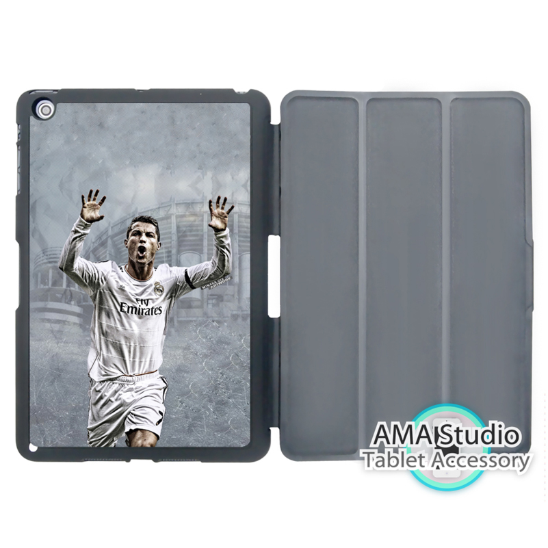 Football Soccer Cristiano Ronaldo Case For Apple iPad Mini 1 2 3 4 Air Pro 9.7 Stand Folio Cover 10.5 12.9 2016 2017 a1822 New видеоигра для pc football manager 2016