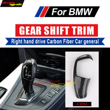 For BMW E81 E82 E87 E88 F22 Gear Shift Knob Cover Carbon fiber 130i 135i 118i 120i 125 Right hand drive A-Style