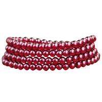 String Female Circle Of Genuine Red Pomegranate Bracelet Collection Level Transfer Beads 3 Laps 6A