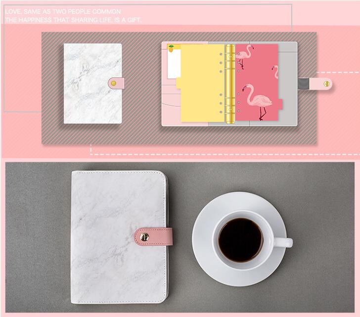 Creative Cool Marble Fashion A6 Spiral Journal Agenda 160 Sheets DIY Undated Planner Diary Gift Box Pack Free Shipping the universe mystery stars theme hobonichi fashion journal a5 a6 creative 2018 planner gift cool diary 128 sheets free shipping