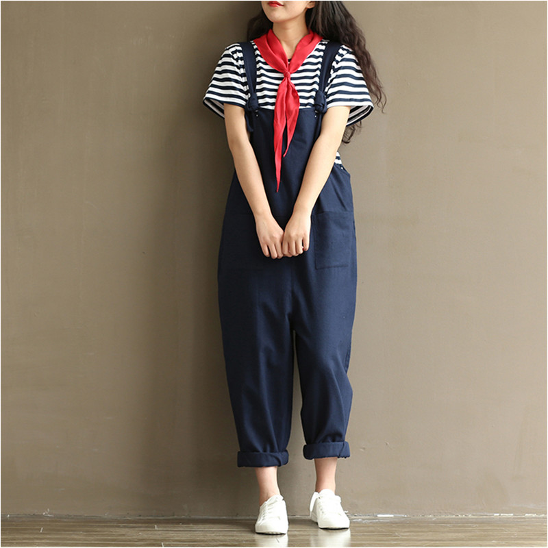 ead45c0edf22 New arrival Womens Strap Loose Jumpsuit Casual Dungaree Harem Trousers Girl  Overall Pant