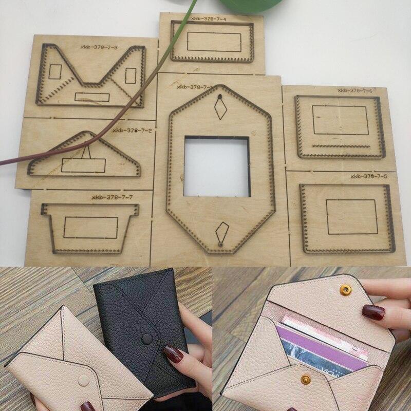 Artisanat cuir bricolage femmes enveloppe forme portefeuille porte-cartes die cutter couteau moule main poinçon outil de coupe modèle 120x80mm