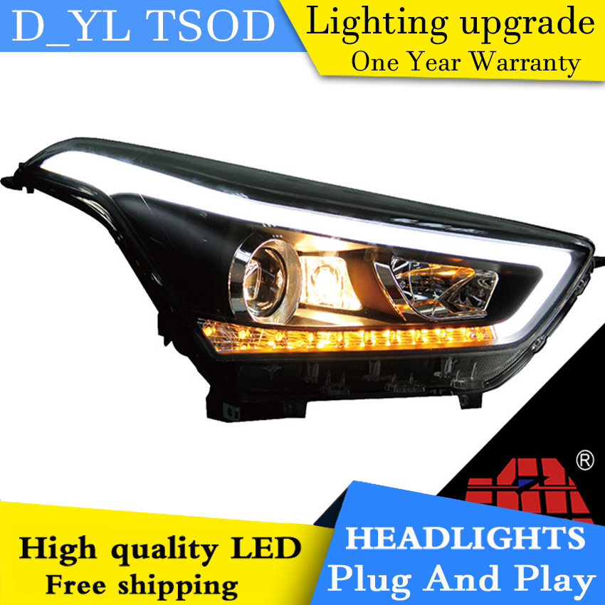 Car Styling For Hyundai IX25 headlights 2015 2019 IX25 led headlight Head Lamp led drl projector