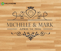 Personalised Name Wedding Floor Sticker Vinyl Removable Floor Decals Custom Size Available Wedding Decor Party Floor