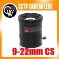 """MP HD 9-22mm 1/3 """"CS Varifocal Manual de Iris lens IR para Vigilância CCD Da Câmera do CCTV"""