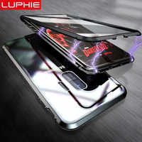 LUPHIE 360 Full Magnetic Case For Samsung Galaxy S9 S8 Plus Note 9 Front Back Glass Case For Samsung Note 8 9 Magnet Cases Cover