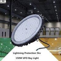 Оснащено молниезащитой 5kv типа High Bay в виде НЛО свет светодиодный Высокая светоотдача IP65 Водонепроницаемый литьем под давлением лампа домаш