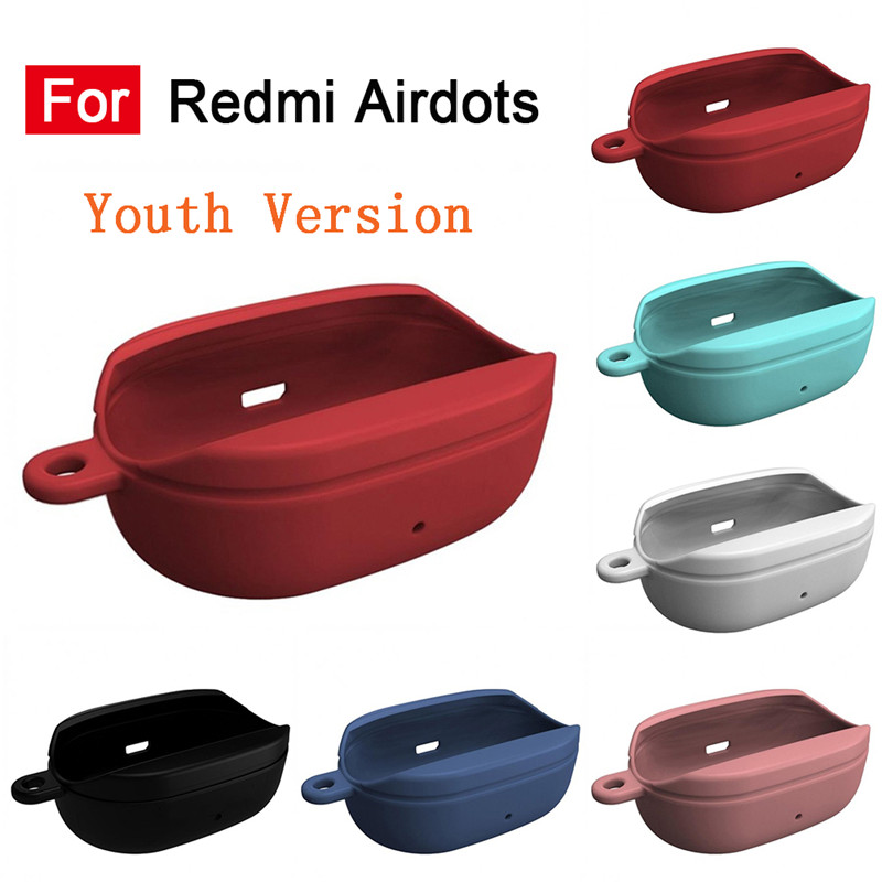 For Xiaomi Youth Version Redmi Airdots Bluetooth Wireless Headset Charging Box Protective Cover Portable Headphones Case Box