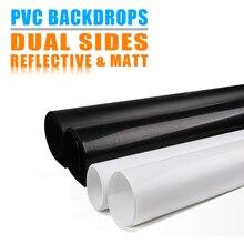 듀얼 사이드 매트 및 반사 PVC 배경 솔리드 컬러 퓨어 블랙 화이트 반전 필터 반사 효과 빨 수있는 방진