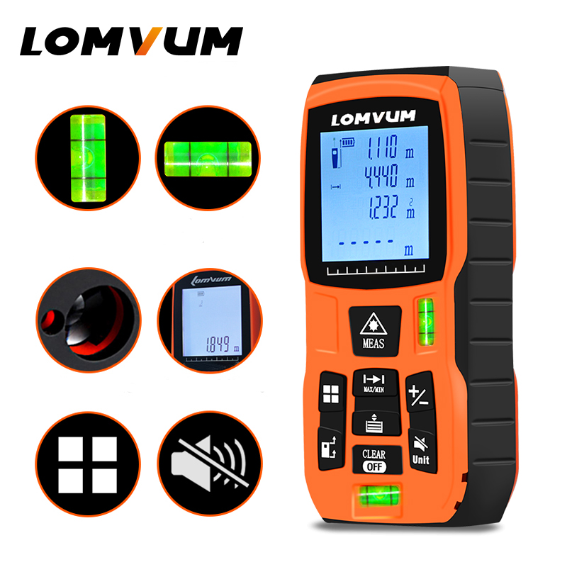 LOMVUM 40-120M Laser Distance Meter with Large LCD and Backlight for Wide Range Measurement 2