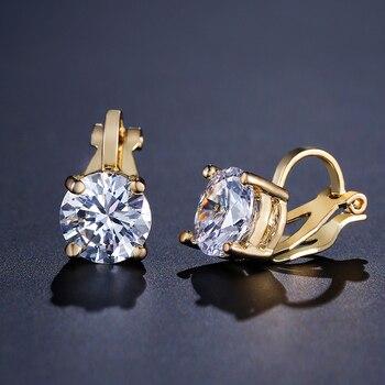Clip Earrings Crystal Fashion Womens Jewelry  5