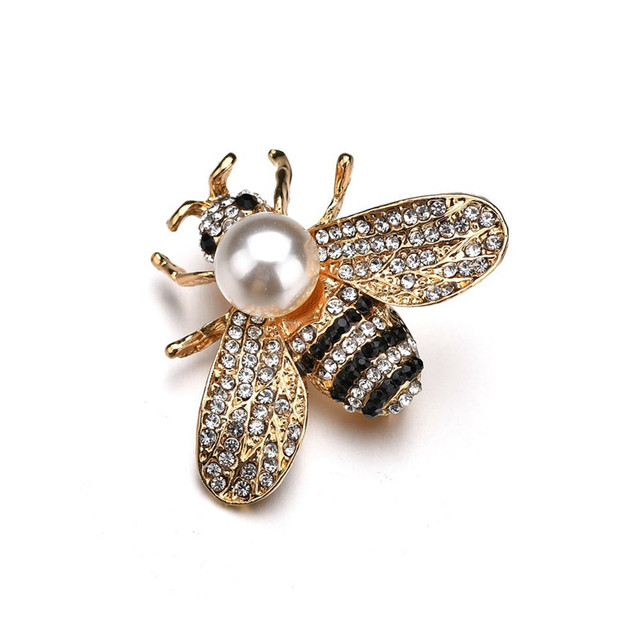 ef5d6c0fc3e Vintage Crystal Animal Insect Simulated Pearl Bee Brooches Pin Antique  Women Brooch Pin Costume Jewelry Valentine's Day Gift