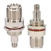 10pcs Adapter converter SO239 UHF female to SMA female bulkhead M16 O Ring Waterproof circle For Ham Radio