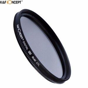 Image 2 - K & F konsept marka UV CPL ND4 kamera Lens filtresi 52/55/58/62/67/72/77mm temizleme bezi + filtre kılıfı Nikon Canon DSLR kamera için