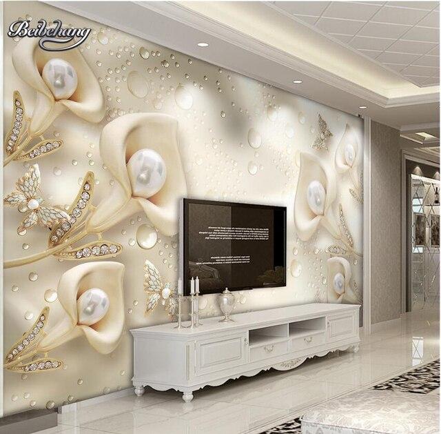 Wandbilder Schlafzimmer | Beibehang 3d Foto Tapete Calla Blatt Schmetterling Wandbild