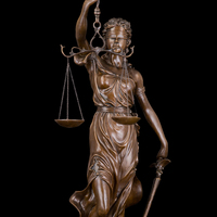 Arts Crafts Copper Estatua justica Bronzes Sculpture Lady Scales of Justice Themis Lawyer woman figurine Large Bronze Statue scu