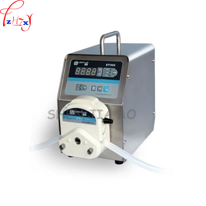 1pc 110/220v led digital display low flow Precise variable speed peristaltic pump for water pumps fluid BT100S / YZ15
