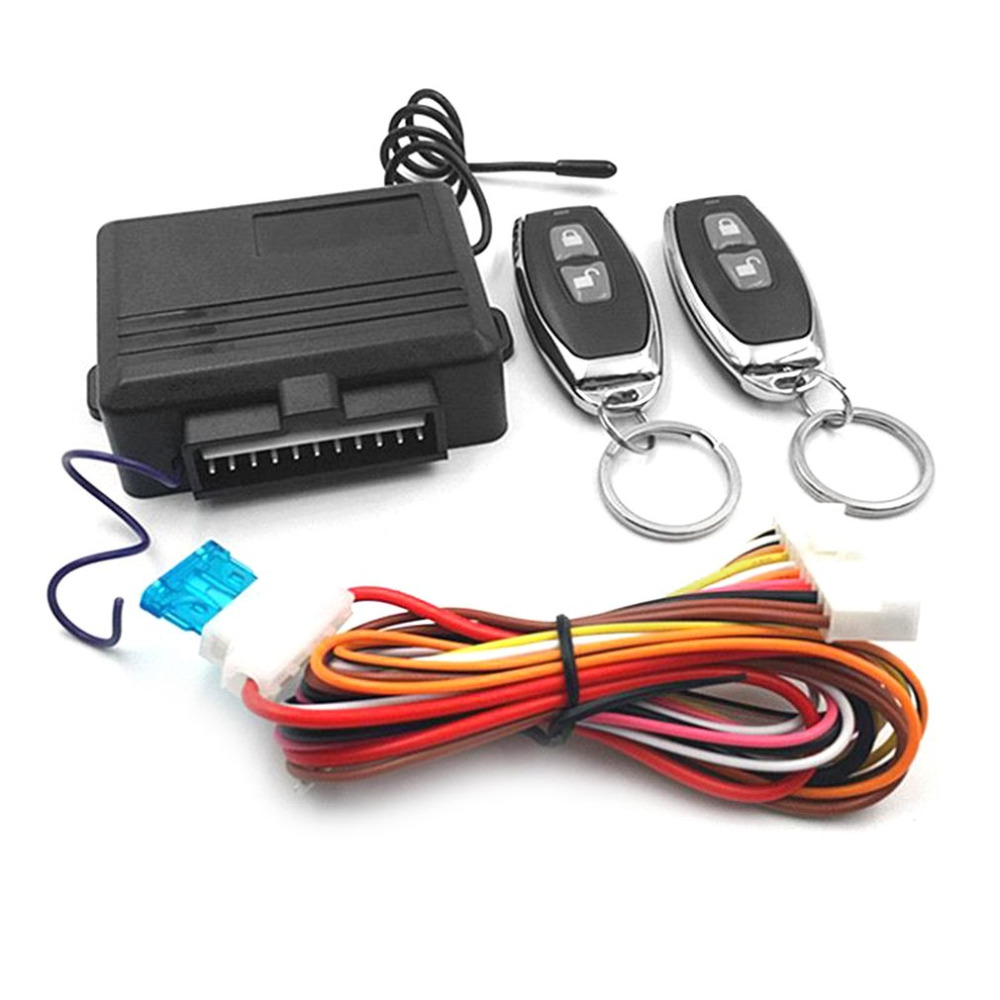 Universal Keyless Entry System Car Alarm Systems Device Auto Remote Control Kit Door Lock Vehicle Central Locking And Unlock New
