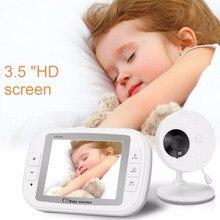 babykam babyphone camera audio nanny baby alarm 3.5 inch IR Night Vision Temperature Sensor Lullabies Intercom baby phone camera