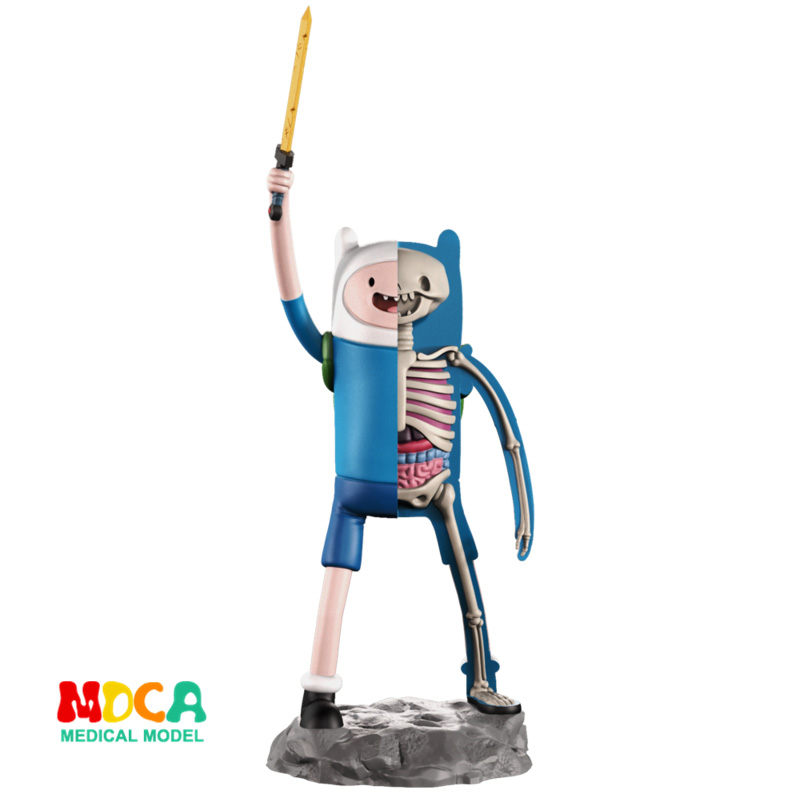 Finn 4D XXRAY Master Mighty Jaxx Jason Freeny Anatomy Cartoon Ornament