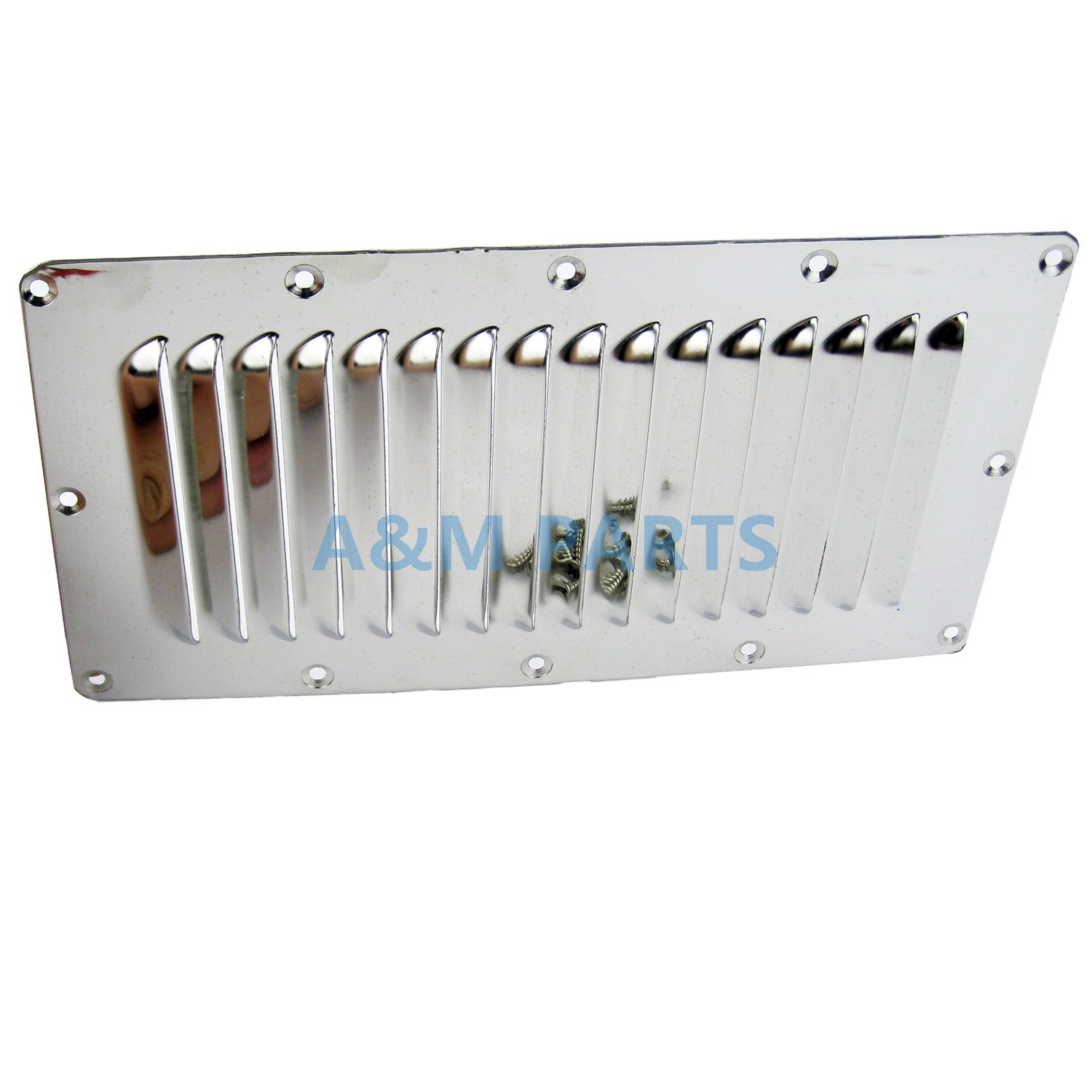 Stainless Steel Marine Vent Boat Louvered Vent Cover With Screws 228*127mm