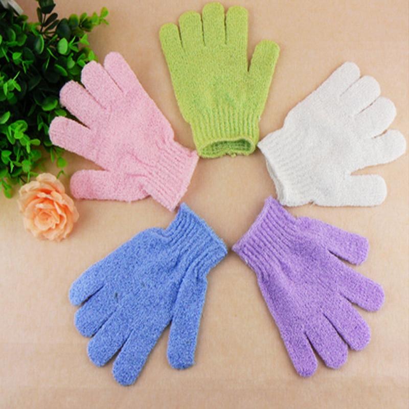 1/2pcs Body Bath Gloves Shower Back Scrub Bath Peeling Glove Candy Colors Body Wash Skin Spa Bath Scrubber Shower Gloves Massage