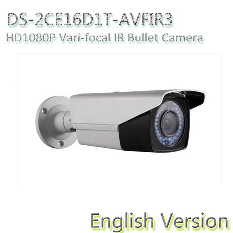 DHL free shipping English Version DS-2CE16D1T-AVFIR3 HD1080P Vari-focal IR Bullet Camera Analog HD output