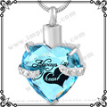 "MJD9790 Infinity Keepsakes Cremation Urn Necklace for Ashes ""Always in my Heart"" Engraved Bereavement Jewelry with Fill Kit"