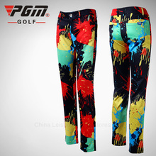 High Quality 2016 Women Golf Multicolor Pants Ladies Colorful Trousers Clothes Soft Breathable Sports Seasons Clothing