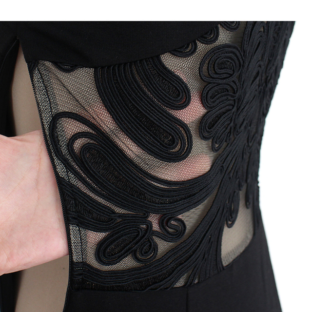 See Through Mesh Party Dress