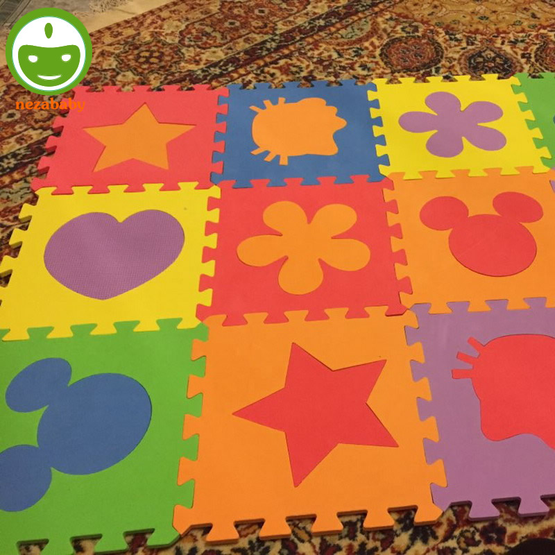 12PCS Pack Cartoon EVA Foam Mat Baby Puzzle Mats EVA Foam Play Mat Baby Play Carpet Kids Floor Mat PX09 ...