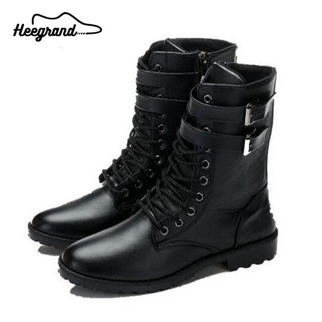Hee grand botas hombres botas de nieve de invierno 2016 zapatos de hombre Nueva Llegada de la manera Mediados de Alta Boot Hombre botas masculina XMX276
