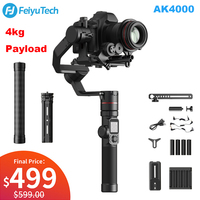 FeiyuTech AK4000 3 Axis Camera Handheld Gimbal Stabilizer with Focus Ring 4kg Payload for Sony Canon 5D Panasonic GH5 Nikon D850