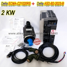 цена на Set Sales Delta 2000 W Servo Motor ECMA-C21020RS And Servo Drive ASD-B2-2023-B with Cable with 5000 rpm Better Quality