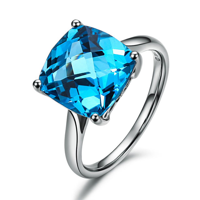 Blue Topaz Gemstone Rings