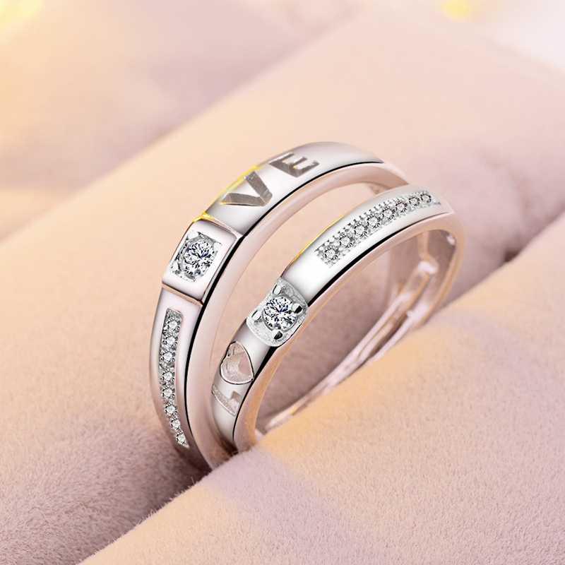 ZRHUA Chất Lượng Cao Original 925 Sterling Silver Nhẫn Bạc cho Nam Giới Phụ Nữ Hàng Ngày Ngón Tay Anel Phụ Kiện Sterling Silver-Bạc-Đồ Trang Sức bague