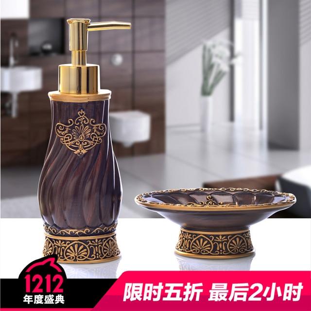 Vintage Bathroom Set 2 Piece Bathroom Accessories Continental Hotel Suite  Soap Box Creative Hand Sanitizer Bottle