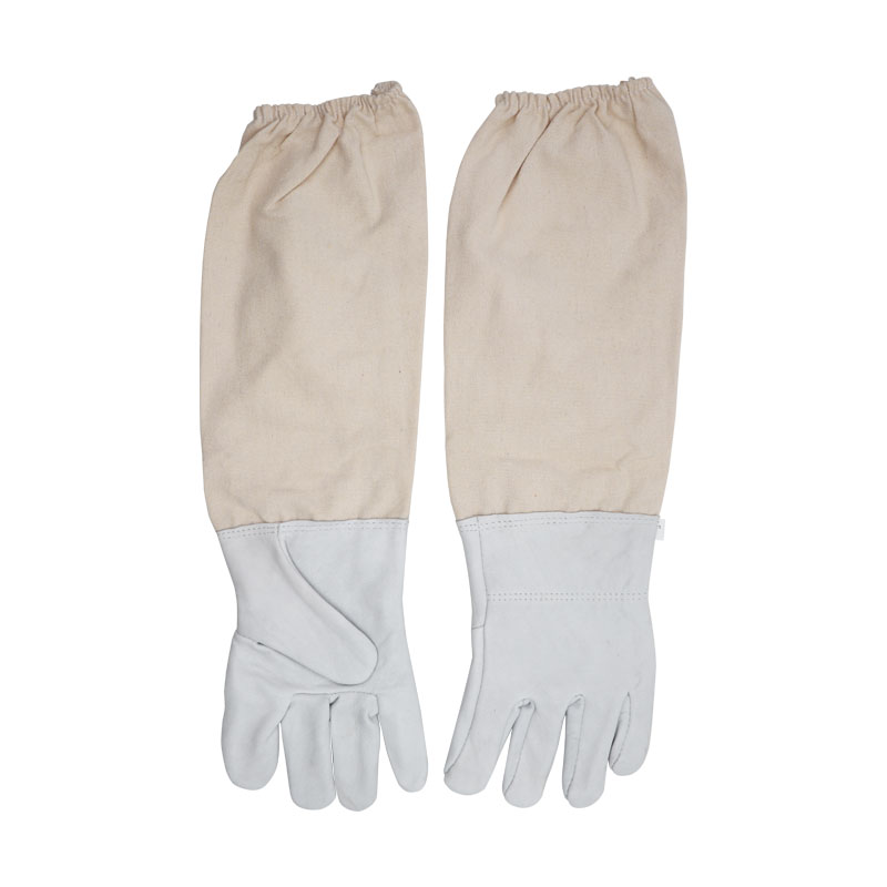 Beekeeping Protective Gloves Sheepskin Anti Bee Prevent Gloves Bee Tools Universal Model Canvas Gloves Bee Hive Bee Tools Beekeeping Tools     - title=
