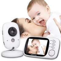 2 4Ghz Wireless 3 2 Inch Electronica Wireless Baby Monitor 2 Way Audio 5M IR Temperature