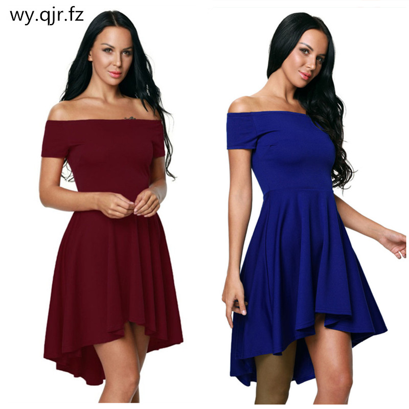 NASY61346#Boat Neck Short front and back Bridesmaid Dresses wine red Violet wedding party dress prom gown wholesale women clothi