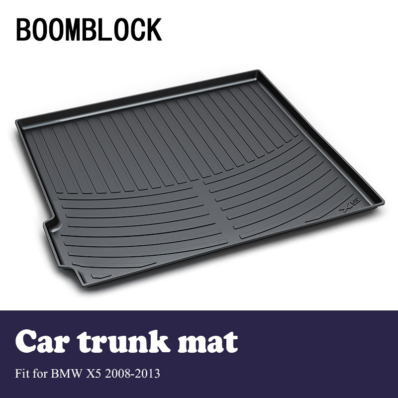 купить BOOMBLOCK Car Interior Accessories Non-slip Dustproof Trunk Special Floor Foot Mat For BMW X5 E70 2013 2012 2011 2010-2008 недорого
