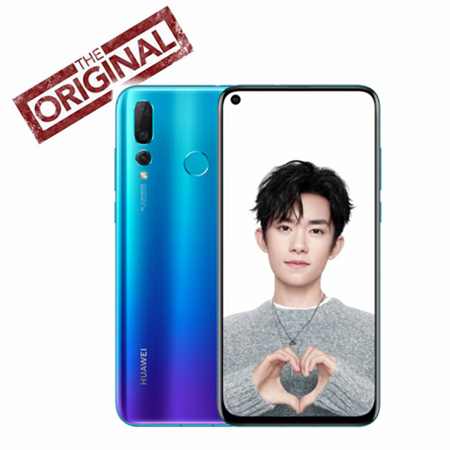 Original HUAWEI NOVA 4 Smartphone 6.4 inch Full Screen nova4 Kirin 970 Octa Core Phone 8G RAM Micro-Intelligent i7 Android 9.0