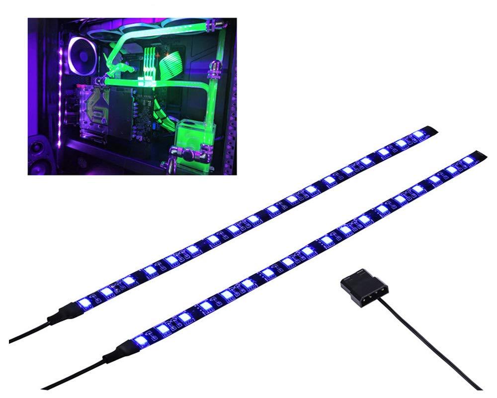 WHITE PC MODDING MOBO BACKLIGHT CASE LIGHT LED STRIP MOLEX SINGLE 30CM STRIP