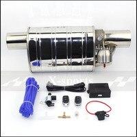 Car Valve Exhaust Pipe Vacuum Pump Variable Mufflers Stainless Steel Universal 51mm 63mm 76mm Embossing Remote Control Muffler