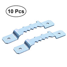 10Pcs Hooks Saw Tooth Double Hole Premium Metal Durable Hooks Hanger for Mirror Picture Photo Frame with Screws(China)