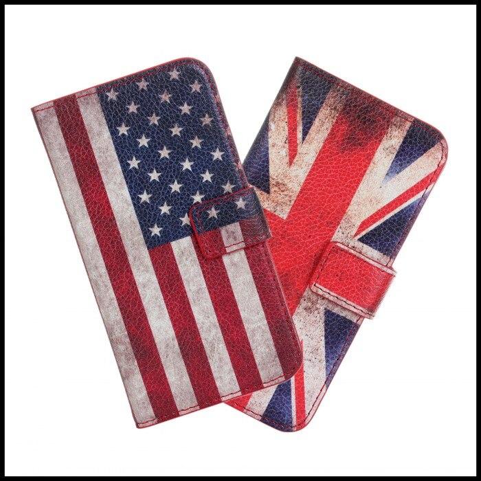 Para samsung galaxy s5 mini casos bandera cubierta del teléfono del bolso carter