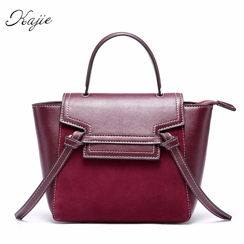 Luxury Belt Suede Calfskin Retro Trapeze Small Genuine Leather Women Handbags Designer Shoulder Bags High Quality Messenger Bags women messenger bags designer handbags high quality 2017 new belt portable handbag retro wild shoulder diagonal package bolsa