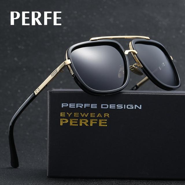 67be97426e PERFE Luxury Square Polarized Aviation Sunglasses Men Brand Designer With  Case Quality Driving Sun glasses Men