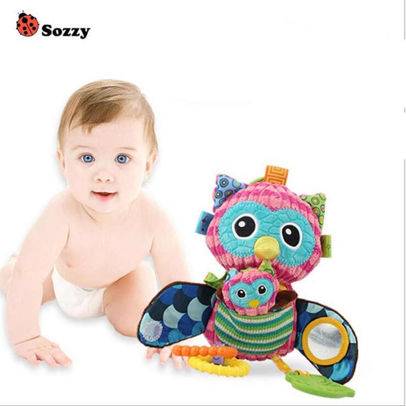 طفل رضيع خشخيشات متعددة الوظائف sozzy أفخم عربة شنقا أفخم لعب لينة البومة خلوية القطن الرضع 40% ٪