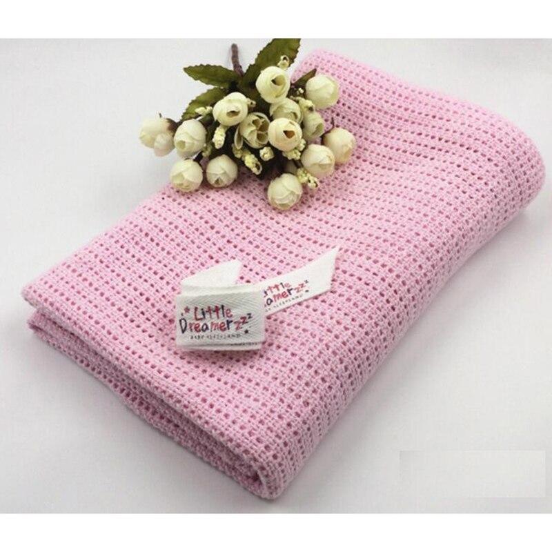Andas fritt sommar bomulls Baby Swaddling Blanket Nyfödda Mjuk Hackla Själv Bed Spread Bath Handdukar Sängkläder Tillbehör
